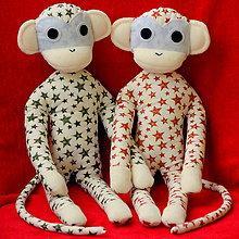Hračky - opička hviezdička - zelená - 6084470_