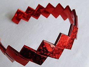 Ozdoby do vlasov - Čelenka - červená - 6084271_