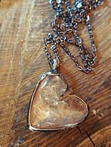 Náhrdelníky - Veľké púpavové srdce - 6086610_