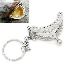 Galantéria - Rám na mini peňaženku s úchytkou na kľúče - 6083126_