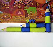 Úžitkový textil - Modro-zelené ceruzky - 6086650_