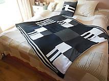 Úžitkový textil - Pásikavá ČB deka - 6083091_