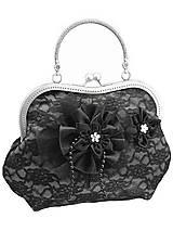 Spoločenská šedá čipková kabelka dámská 09801CS