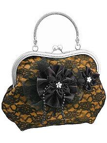 Kabelky - Spoločenská zlatá čipková kabelka dámská 09801CS - 6090874_