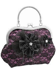 Kabelky - Spoločenská fialová čipková kabelka dámská 09801CS - 6090878_