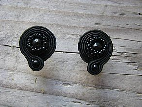 Náušnice - Mini (black...soutache) - 6091092_