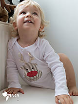 Detské oblečenie - body SOBÍK (dlhý/krátky rukáv) - 6090984_