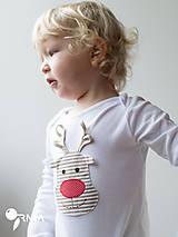Detské oblečenie - body SOBÍK (dlhý/krátky rukáv) - 6090985_