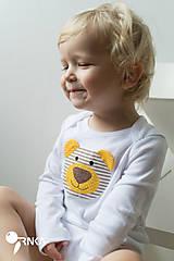 Detské oblečenie - body BRUMÍK (dlhý/krátky rukáv) - 6091162_