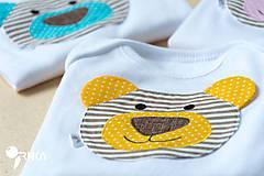 Detské oblečenie - body BRUMÍK (dlhý/krátky rukáv) - 6091164_