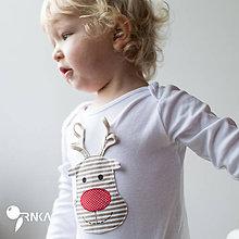 Detské oblečenie - body SOBÍK (dlhý/krátky rukáv) - 6090986_