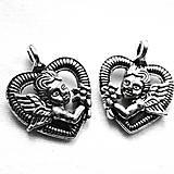 - KPrív-srdce s anjelom 20x16mm-1ks - 6091207_