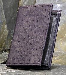 Peňaženky - Pánská kožená peněženka - Pštros - 6087901_