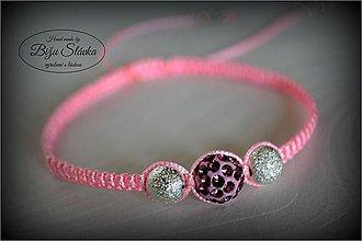 Náramky - Shambala náramok ružový (1840 A) - 6088554_