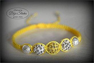 Náramky - Shambala náramok žltý (1842 A) - 6088588_