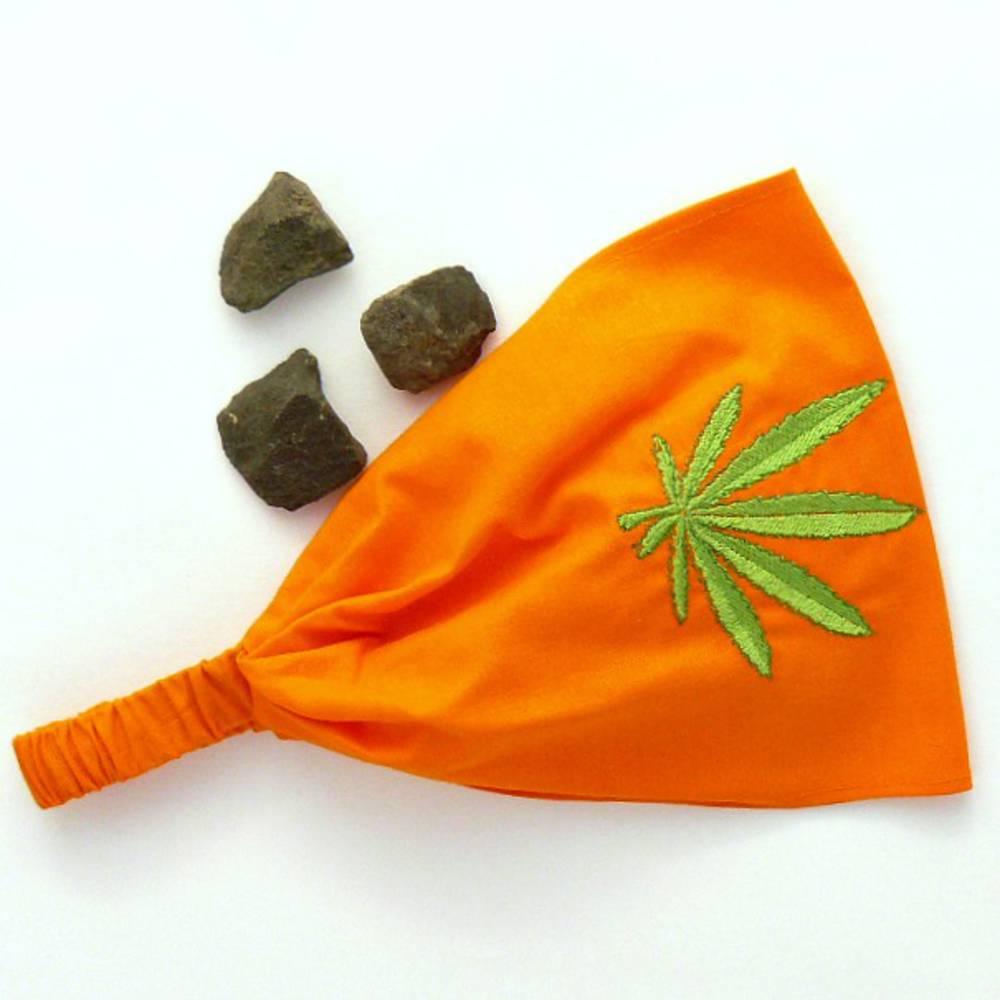 Trávomilka v oranžovej   Araso - SAShE.sk - Handmade Ozdoby do vlasov f201ade514