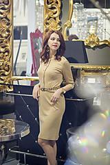 Šaty - Úpletové šaty béžovej farby - 6088877_