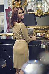 Šaty - Úpletové šaty béžovej farby - 6088885_