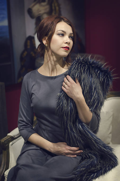 Kožušinový šál