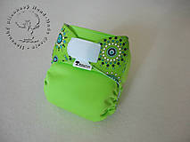 - Zelená Mandala - PUL Kapsová Plienočka (veľ. S-M-L) + vkladačka - 6089121_