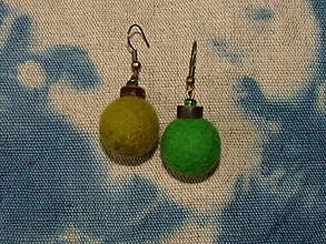 Náušnice - Náušnice- Zeleno-zelené - 6090048_
