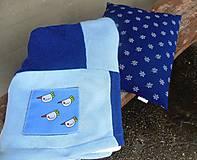 Textil - Modrá dečka pre chlapčeka - 6090487_
