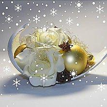 Dekorácie - Vianočná dekorácia_ smotanovozlatá_ Medium - 6093718_