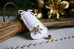Dekorácie - Zvonček - biely - 6097029_
