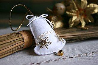 Dekorácie - Zvonček - biely - 6097028_