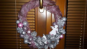 Dekorácie - AKCIA Vianočný  veniec Ružový - 6096001_