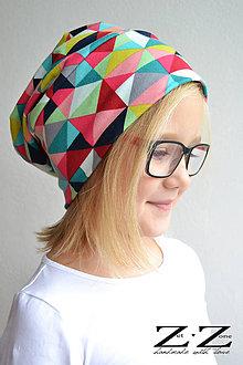 Detské čiapky - Geometric girl - 6096841_