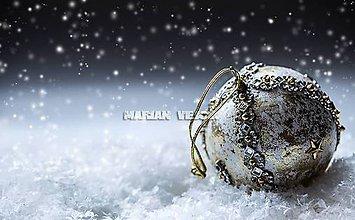 Dekorácie - Sada -vianočné gule (Zlatá) - 6095833_