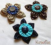 Odznaky/Brošne - Brošničky - lúčne kvety - 6092134_