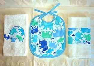 Textil - Darčeková sada pre bábätko so slonmi - 6092530_