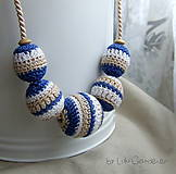 Náhrdelníky - Háčkovaný náhrdelník . Hilda - 6093677_