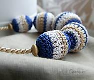Náhrdelníky - Háčkovaný náhrdelník . Hilda - 6093678_