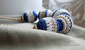 Náhrdelníky - Háčkovaný náhrdelník . Hilda - 6093696_