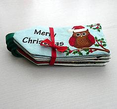 Úžitkový textil - Vianočné visačky - 6095059_