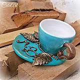 Šálka na kávu s monogramom