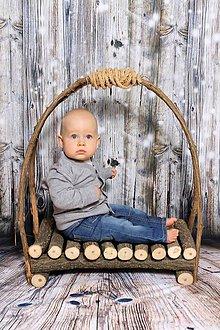 Detské doplnky - Drevená postielka - 6095113_