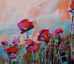 Obrazy - Sunset poppies  - 6096937_
