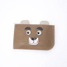 Peňaženky - Leather wallet Bear - 6096173_