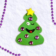 Magnetky - Vianočný stromček s osobnosťou 4 - mrkajúci - 6093277_
