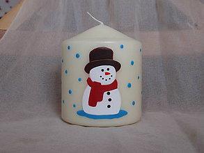 Svietidlá a sviečky - snehuliak - 6099441_