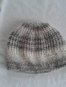 Čiapky - šedomelír dámska čiapka - 6098497_