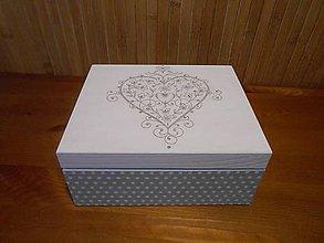 Krabičky - srdiečková s bodkami - 6097488_