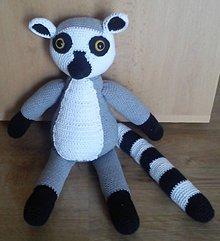 Hračky - Háčkovaný lemur - 6099169_