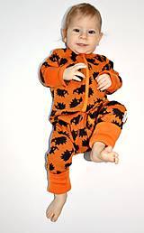 Detské oblečenie - Rastúci overal - merino vlna - veľkosť 0-6m (50-68cm) – 19 farieb - 6098500_