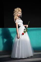Šaty - Svadobné šaty s tylovou sukňou do A - 6098275_