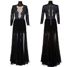 Šaty - Elastické spoločenské šaty s kovovým zipsom - 6098191_